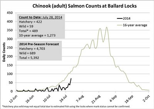 Where's the Fish-Chinook Chart